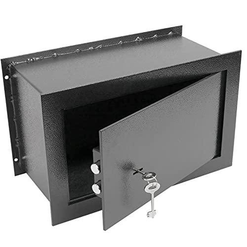 PrimeMatik - Cassaforte di Sicurezza Incasso in Acciaio Armadi di Sicurezza con Chiavi 36x15x23cm Nero