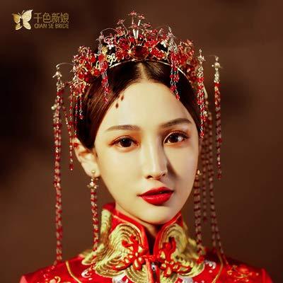 don997gfoh08yewi Duizend kleur 2019 nieuwe Chinese phoenix kroon bruid kostuum tiara stap show kimono kwast toast kleding streamerWei Le
