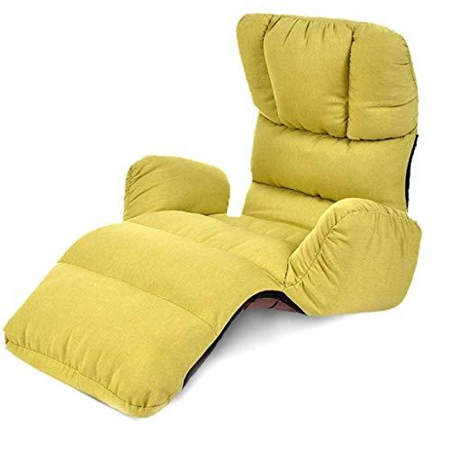 Takeya Originals Sillón plegable y perezoso, moderno, sofá cama, reclinable, función de muebles de suelo relajante, decoración interior del hogar (color: B) (color: A)