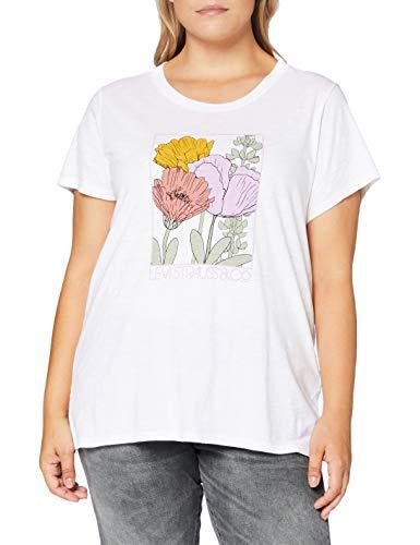 Levi's Plus Size tee Camiseta, Pl Floral Linear Logo White +, 1 XX para Mujer