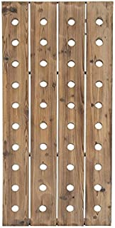 Deco 79 55409 Extra Large Rustic Reclaimed Wood Hanging Wine Rack | 40 Bottle Pegboard, 21