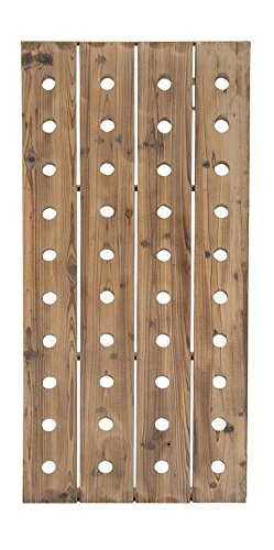 """Deco 79 55409 Extra Large Rustic Reclaimed Wood Hanging Wine Rack   40 Bottle Pegboard, 21"""" x 57"""""""