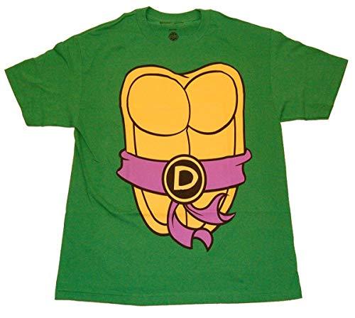Teenage Mutant Ninja Turtles Donatello Kostüm Grün Erwachsene T-Shirt (Small)