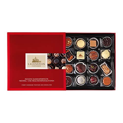 Lauensteiner Trüffel- und Pralinenspezialitäten | 200g in Geschenk-Schachtel | 16 Geschmacksrichtungen mit/ohne Alkohol