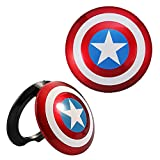 Captain America Car Engine Push to Start Button Ignition Protective Cover Anti Scratch Universal Car Button Decoration Ring Accessories