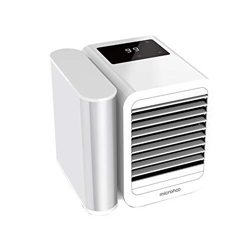 Microhoo Mini refrigeratore d'aria, Raffreddatore d'aria di umidificazione e purificazione tre in uno, Purificatore dell'umidificatore del dispositivo di raffreddamento dell'aria portatile Portable