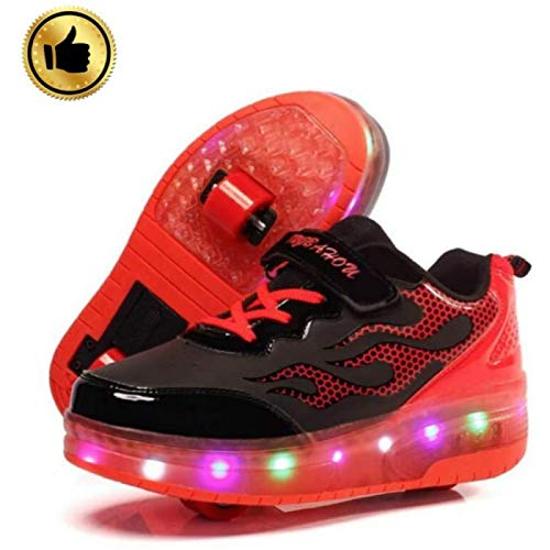 Song Zapatos LED con Carga USB Zapatillas Intermitentes...