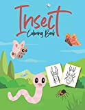 Insect Coloring Book: For Adults, Teens And Kids | Basic Art Craft | Unique Large Pictures | Spider,...
