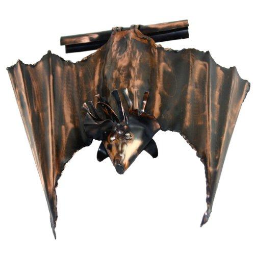 Kupferfigur große Fledermaus (fast geschlossene Flügel) für die Dachrinne, 27 cm