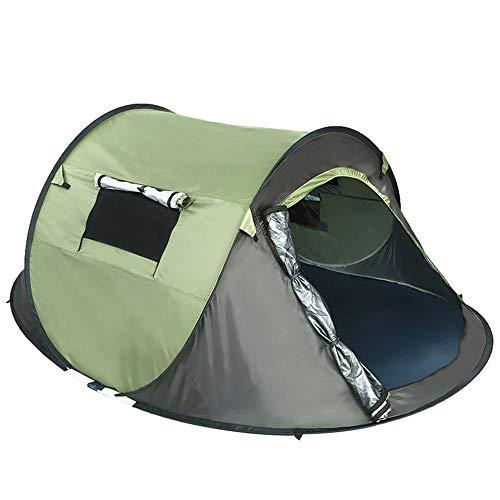 Tragbare Coastline Automatic Pop-Up Zelt für 3-4 Personen Anti-Uv Dom-Sohlen mit Carry Bag Instant Camping Gear für Wandern Picknick-Fischt Beach-230 * 160 * 100cm