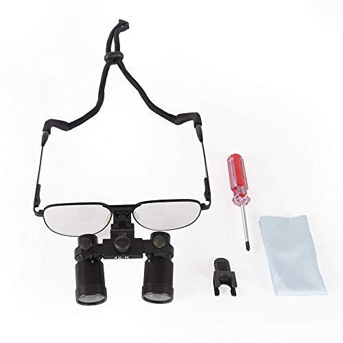Pandalife Medical Surgical - Gafas de aumento odontología, binocular, lente de aumento 4.0 x -R, deportivas, tipo para entrada/vid, color plateado