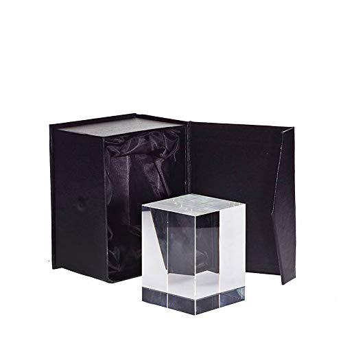 CRISTALICA Glasblock Würfel Cube Ampere Briefbeschwerer für Lasergravur aus Glas 8cm