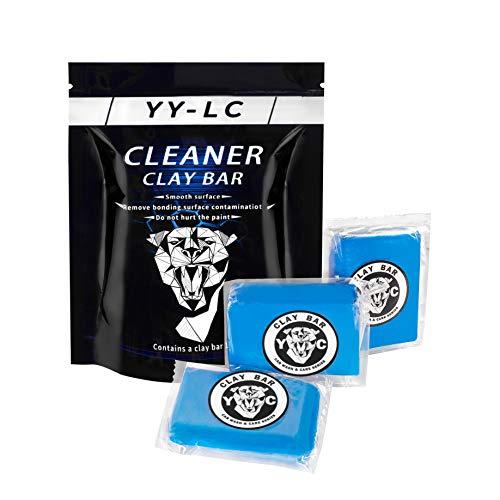 YY-LC Reinigungsknete Auto 3X100g,Car Clay Bar,Lackreinigungsknete zur Lackpflege,Kann leicht Rost, Asphalt, Lackiermaschine, tierischen KOT und Oberflächenschadstoffe entfernen