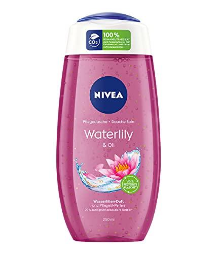 NIVEA Pflegedusche Waterlily & Oil (250 ml), erfrischendes Duschgel mit Pflegeöl-Perlen, verwöhnende Dusche mit zartem Wasserlilien-Duft