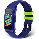 moreFit Kids Fitness Tracker New Upgraded Waterproof Activity Tracker Watch for Children, Health Exercise Watch with Heart Rate Sleep Monitor, Pedometer Watch, Calorie Counter