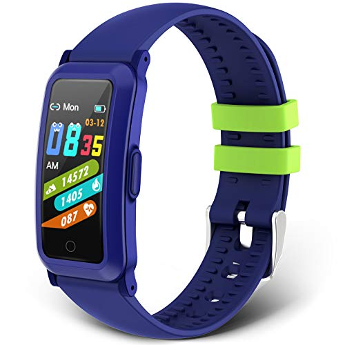 moreFit Kids Fitness Tracker, New Upgraded Waterproof Activity Tracker Watch for Children, Health Exercise Watch with Heart Rate Sleep Monitor, Pedometer Watch, Calorie Counter