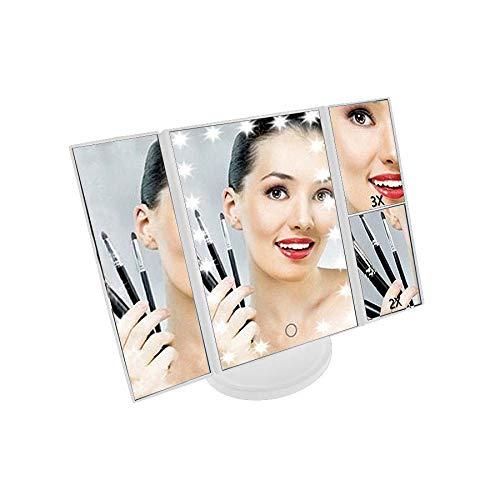 Espelho de maquiagem 3 Lados Luz Led Touch Camarim (888478)