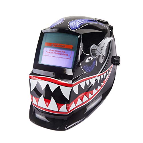 Holulo Welding Helmet Solar Power Auto Darkening Wide Viewing Field Professional Hood for MIG TIG ARC MMA