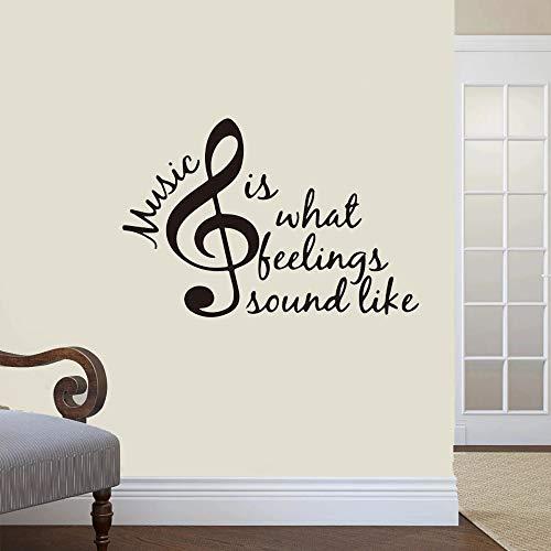 Suena como pulsera piano violín guitarra canto hobby gran etiqueta de la pared obra de arte vinilo superhéroe niño habitación