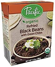 Pacific Foods Organic Refried Black Beans Vegetarian, 13.6-Ounce Boxes, (Pack of 12)