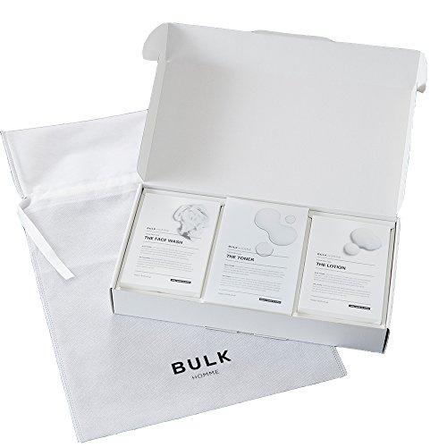BULK HOMME(バルクオム) 【ギフトセット】バルクオム 洗顔料 & 化粧水 & 乳液各1個 (メンズ フェイスケア セット 男性向け 3STEP プレゼント ギフト ラッピング袋) BULKHOMME FACE WASH Toner & The Lotion プレゼント袋 つき プレゼント袋付き