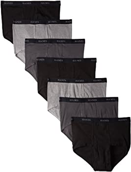 Hanes Ultimate Men s Comfort Flex Waistband Briefs-Multiple Packs Available Black/Gray Assorted 7-Pack X Large