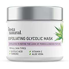 PHYSICAL & CHEMICAL EXFOLIATOR - Our face mask provides dual-action exfoliation to hydrate and renew the skin. Glycolic Acid is combined with Quartz Crystals to provide both physical and chemical exfoliating benefits. This natural facial mask treatmen...