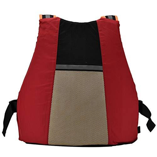 Ayuda A La Flotabilidad, Chaleco Salvavidas para Adultos De Material De Poliéster para Un Peso Adulto Inferior A 95 Kg para Rescatar(Rojo)