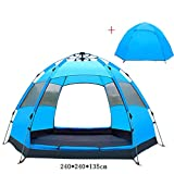 Auppy Dome Tent Canopy for Camping Automatic Waterproof Tents 3-4 Person Canopy Easy