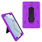 Galaxy Tab A 8.0 2015 Case T350, KIQ Full-Body Durable Drop Protection Case Cover Kickstand for Samsung Galaxy Tab A 8' SM-T350 SM-T355 (Purple)