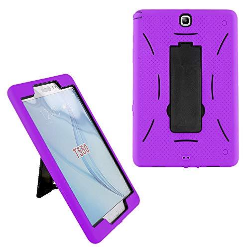 Galaxy Tab A 8.0 2015 Case T350, KIQ Full-Body Durable Drop Protection Case Cover Kickstand for Samsung Galaxy Tab A 8' SM-T350 SM-T355 (Purple)
