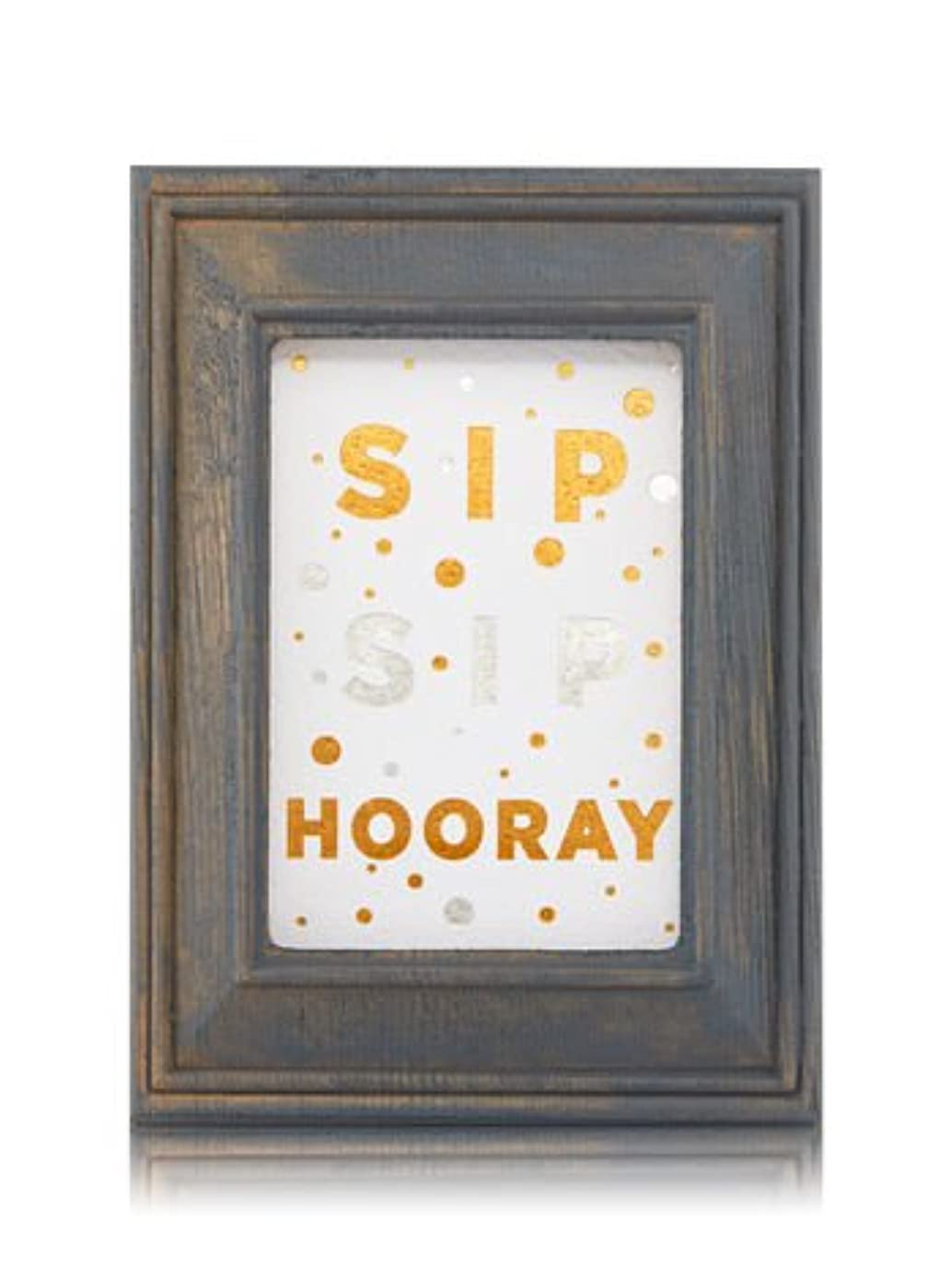 可愛いバンドルコイル【Bath&Body Works/バス&ボディワークス】 ルームフレグランス プラグインスターター (本体のみ) ウッドフレーム ゴールド シルバー Wallflowers Fragrance Plug Wooden Sip Sip Hooray Frame [並行輸入品]