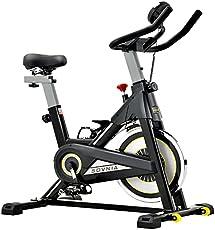 SOVNIA Bicicleta Estatica de Spinning profesional Bici Ejercicio con soporte para iPad, monitor LCD y cómodo cojín de...