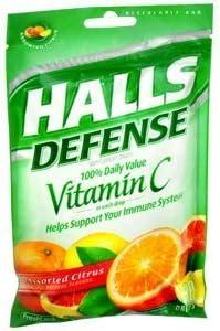 discount Special pack of 5 HALLS DEFENSE per Vitamin C CITRU NEW before selling DROP 30