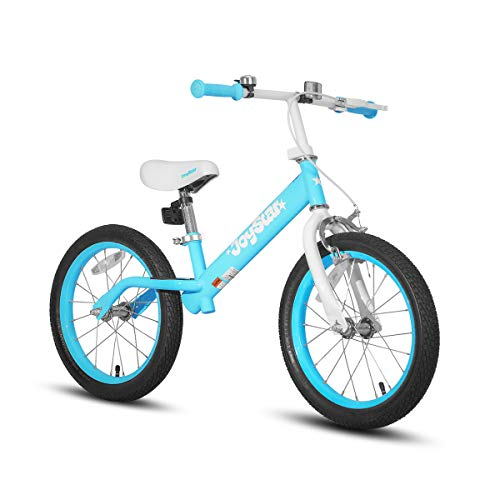 JOYSTAR 16' Balance Bike for Big Kids 5, 6, 7, 8 and 9 Years Old with Rubber Tire and Adjustable seat, Blue