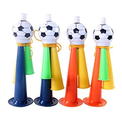 BESPORTBLE 10 Stks Voetbalfans Hoorn Plastic Trompet Speelgoed Noise Maker Voetbal Game Speakers Gunst (Willekeurige Kleur)