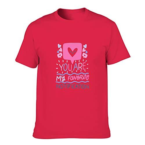 STELULI Camiseta de algodón para hombre, diseño con texto en inglés 'You're My Favorite Notification'