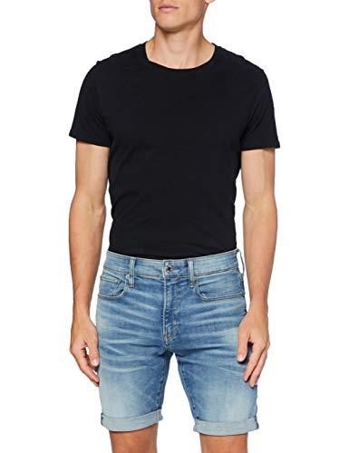 G-STAR RAW 3301 Slim Pantalones Cortos Casuales, Vintage Llamativo Azul 8968-B171, 29W para Hombre