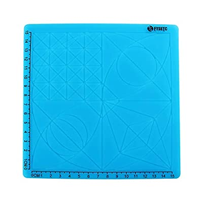 Toaiot 3D Pen Mat Doodle Pad with 2 Silicone Finger Caps Basic Geometric Template Multi-Purpose Design for Drawing Tools 3D Pen Accessories Drawing Mat for Kid Adults Artist-Blue Type A