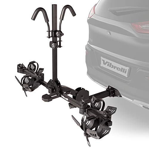 Vibrelli Bike Hitch Rack for Cars, SUV - Holds 130lbs - Anti-Wobble - 2 Bicycle Carrier for Fat...