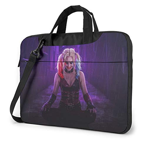 Harley Quinn Cool Laptop Sleeve Case Handheld One Shoulder Shockproof Oxford Protective Case/Notebook Computer Pocket Case/Tablet Briefcase Carrying Bag Compatible-14 inch