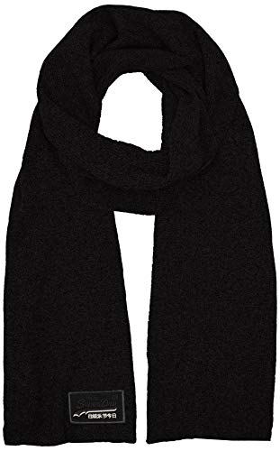 Superdry Herren ORANGE LABEL SCARF Schal, Schwarz (Black 02A), OS