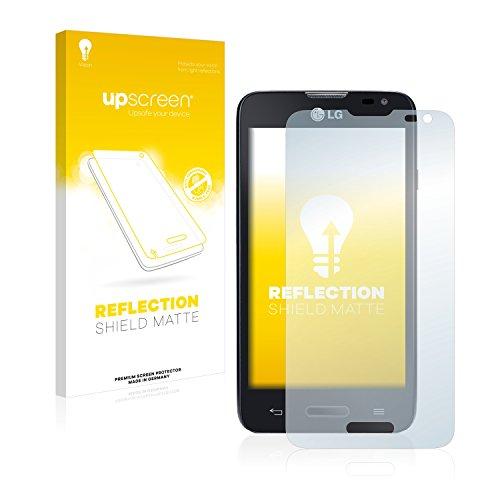 upscreen Entspiegelungs-Schutzfolie kompatibel mit LG L65 D280 (One SIM) – Anti-Reflex Bildschirmschutz-Folie Matt