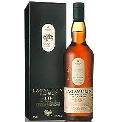 Lagavulin 16 Jahre Single Malt Scotch Whisky – Trockener und rauchiger Islay Whisky mit langem, torfigem Abgang – In traditioneller Geschenkbox – 1 x 0,7l