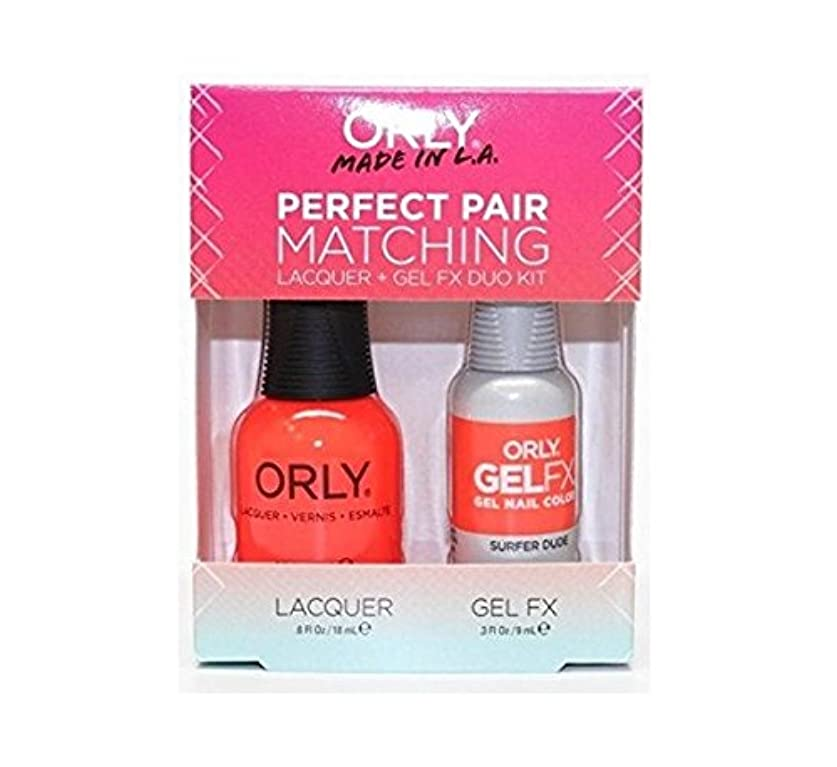 不健全長々とお嬢Orly Lacquer + Gel FX - Perfect Pair Matching DUO Kit - Surfer Dude
