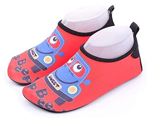 zapatos de playa Zapatillas de agua para niños pequeños Non-Slip Beach Zapatos a la deriva Snorkeling Wading y Secado rápido Calcetines de la playa Zapatos de natación para niños al aire libre zapatos