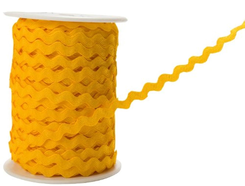 May Arts 1/4-Inch Wide Ribbon, Yellow Ric Rac