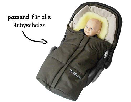 Hofbrucker Lammfell-Fußsäckchen Leni für Babyschale und Kinderwagen