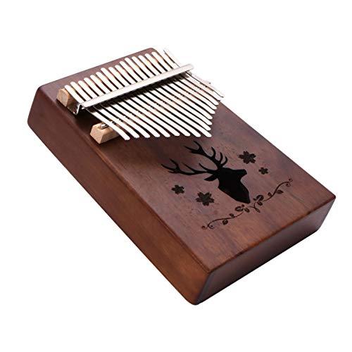 MILISTEN Kalimba 17 Tasten Daumen Klavier Set Tragbare Holz Mbira Finger Klavier Musikinstrument Geschenke für Kinder Erwachsene