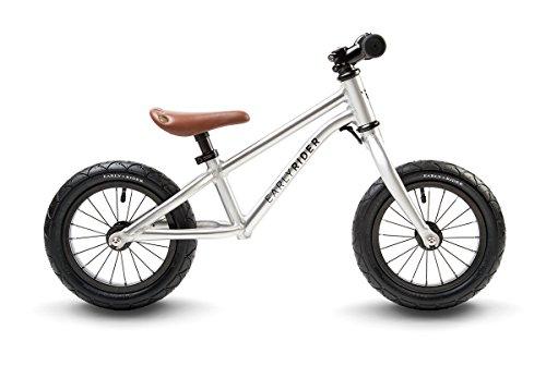 "Early RiderAlley Runner Kids' Kids Bike Silver, 21"" inch aluminium frame, 1 speed 12 inch pneumatic wheels sealed cartridge bearings"